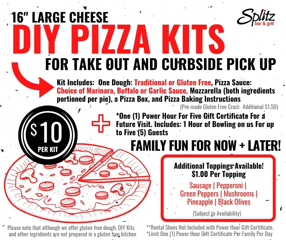 Flyer for Do it Yourself Pizza Kits